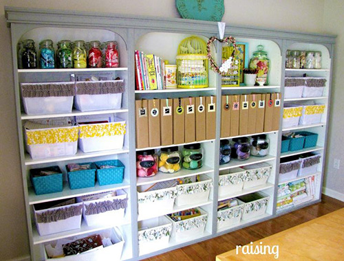 2 - Organizing craft supplies in small space collection ...